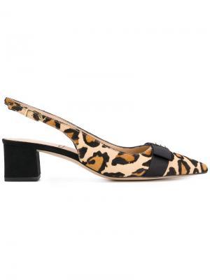 Alwyn leopard print slingback pumps Sam Edelman. Цвет: телесный