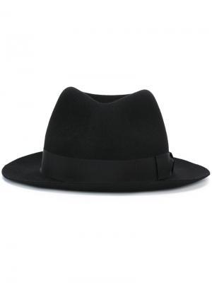 Фетровая шляпа Borsalino. Цвет: чёрный