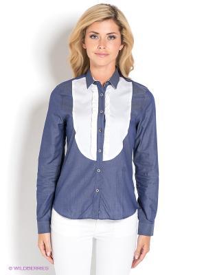 Блузка Ruck&Maul. Цвет: синий, белый