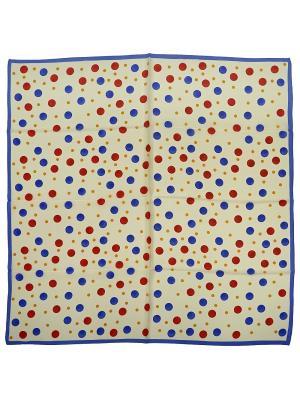 Платок Zalta. Цвет: кремовый, желтый, красный, синий