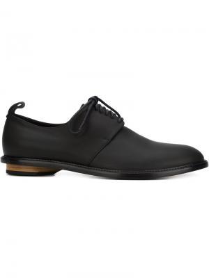 Туфли на шнуровке Charlie Valas. Цвет: чёрный
