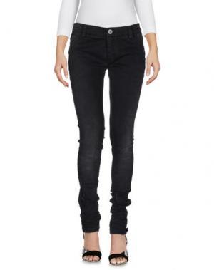Джинсовые брюки 10SEI0OTTO. Цвет: черный