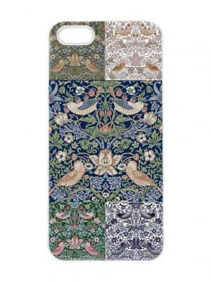 Чехол для iPhone 5/5s Гобеленовая мозаика Арт. IP5-241 Chocopony. Цвет: белый, синий, темно-зеленый, хаки, голубой, бежевый