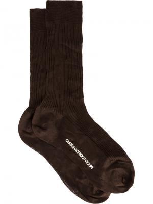 Носки в рубчик Cherevichkiotvichki. Цвет: коричневый