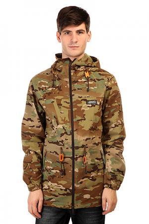 Куртка  Windjacket 44 Camo Anteater. Цвет: зеленый,черный,коричневый