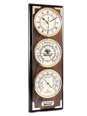 Часы-метеостанция BRIGANT. Цвет: темно-красный, золотистый