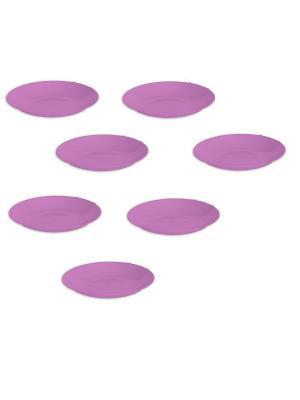 Комплект тарелка круглая  d 190 -7 шт. Полимербыт. Цвет: фиолетовый
