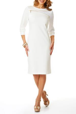 Платье Argent. Цвет: молочный