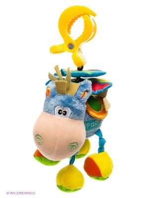 Мягкая игрушка-подвеска Ослик Playgro. Цвет: голубой, желтый