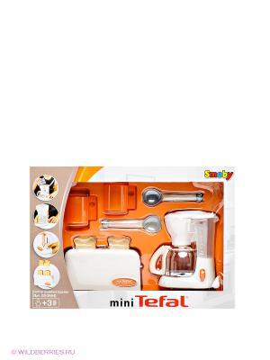 Набор: тостер и кофеварка Tefal Smoby. Цвет: белый, оранжевый