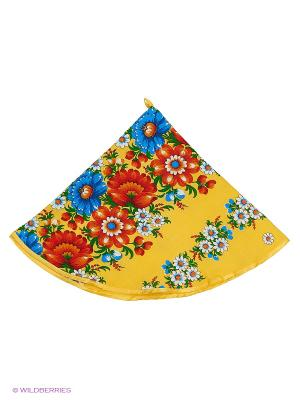 Полотенце круглое Метиз. Цвет: желтый