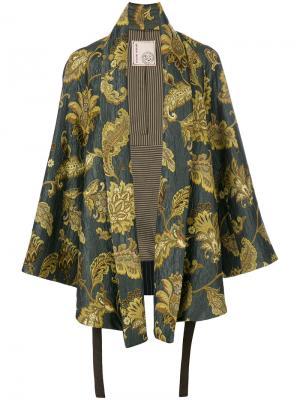 Пиджак-кимоно с принтом листьев Antonio Marras. Цвет: многоцветный