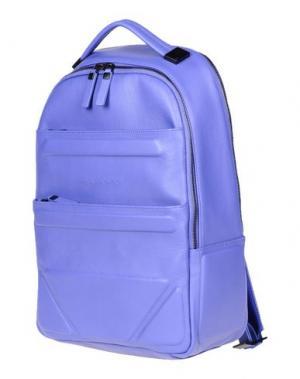 Рюкзаки и сумки на пояс PIQUADRO. Цвет: фиолетовый
