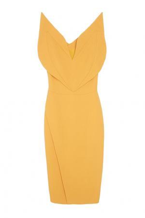 Однотонное платье Chapurin. Цвет: охра