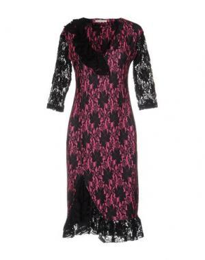 Платье до колена EAN 13. Цвет: фуксия