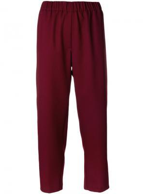 Укороченные брюки Forte. Цвет: красный
