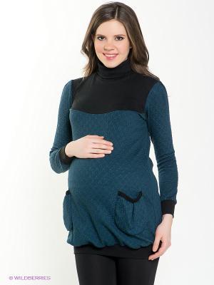 Туника для беременных 40 недель. Цвет: черный, синий, зеленый