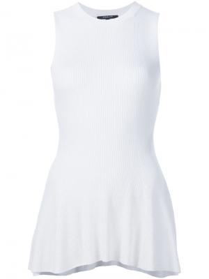Блузка с баской Derek Lam. Цвет: белый