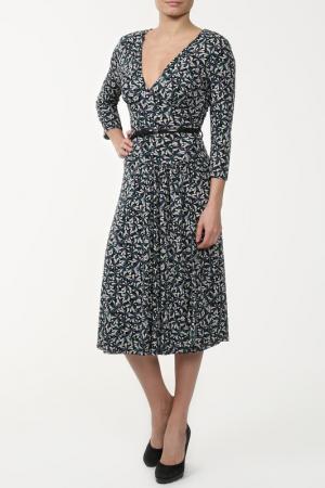 Платье Monica Ricci. Цвет: бирюзовый, черный