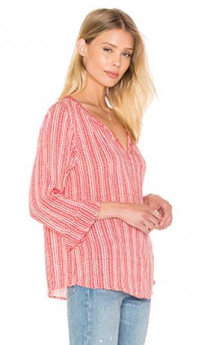Рубашка на пуговицах selda Velvet by Graham & Spencer. Цвет: красный