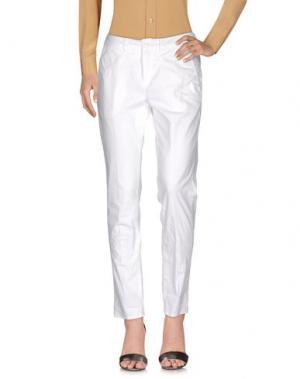 Повседневные брюки MANILA GRACE. Цвет: белый