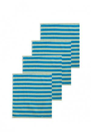 Комплект полотенец 4 шт. La Pastel. Цвет: бирюзовый