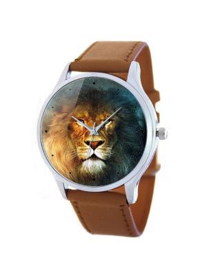 Дизайнерские часы Лев Tina Bolotina. Цвет: коричневый, желтый