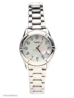 Часы TIMEX. Цвет: серебристый