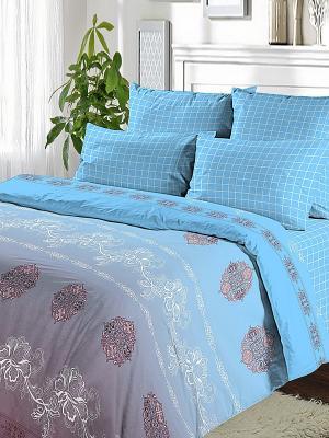 Постельное белье Василиса. Цвет: голубой