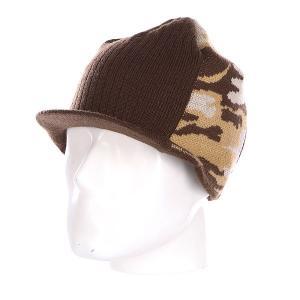 Шапка с козырьком  Wedge Brown Dekline. Цвет: коричневый