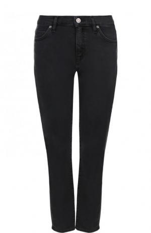 Укороченные однотонные джинсы MiH Jeans. Цвет: серый