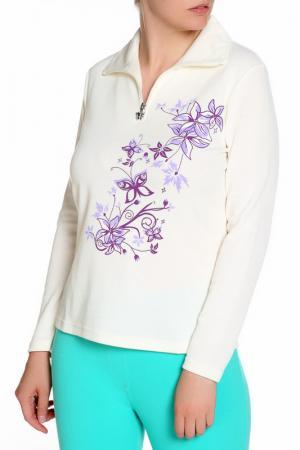 Блуза HELENA VERA. Цвет: кремовый