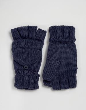 Boardwalk Перчатки-митенки Boardmans Converter. Цвет: темно-синий