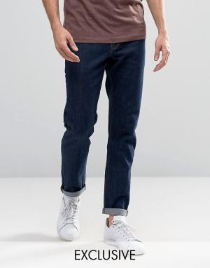 Noak Узкие джинсы стретч цвета индиго. Цвет: синий