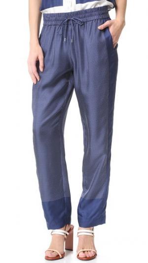 Тренировочные брюки Hadley Equipment. Цвет: темно-синий/ярко-белый