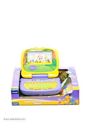 Карточный обучающий компьютер Винни Vtech. Цвет: желтый, синий, фиолетовый