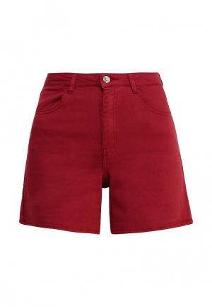 Шорты джинсовые Jennyfer. Цвет: бордовый