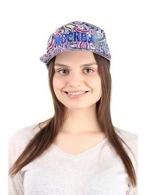 Бейсболка Migura. Цвет: синий, сиреневый, розовый, черный