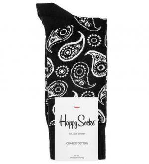 Носки из хлопка и полиамида Happy Socks. Цвет: черный