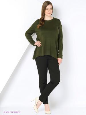 Пуловер Open End. Цвет: темно-зеленый