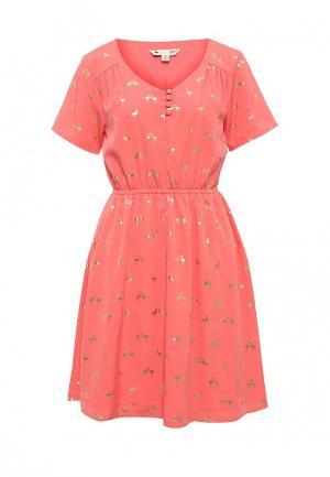 Платье Yumi. Цвет: коралловый