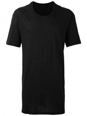 Удлиненная футболка 11 By Boris Bidjan Saberi. Цвет: чёрный