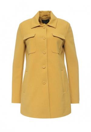 Пальто Piazza Italia. Цвет: желтый