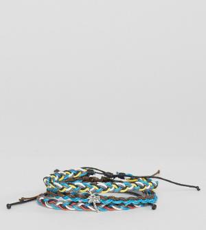 Classics 77 3 браслета с вощеным шнурком. Цвет: мульти