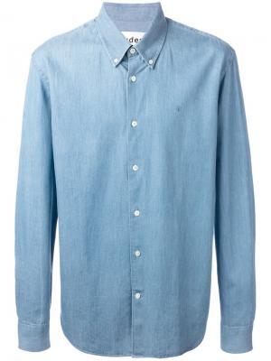 Джинсовая рубашка Études. Цвет: синий