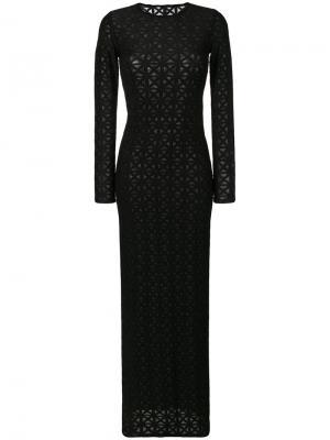 Приталенное платье макси Gareth Pugh. Цвет: чёрный
