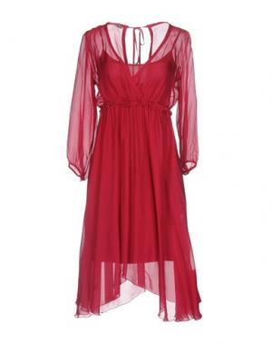 Короткое платье PAOLO CASALINI. Цвет: пурпурный