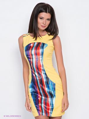 Платье EZANNA. Цвет: желтый