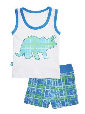 Пижама КОТМАРКОТ. Цвет: белый, голубой, зеленый