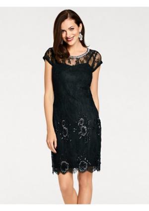 Коктейльное платье Ashley Brooke. Цвет: чёрный